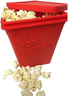 Microondas palomitas de maiz poppers – sin aceite O-Ring 1.5 Quart ...