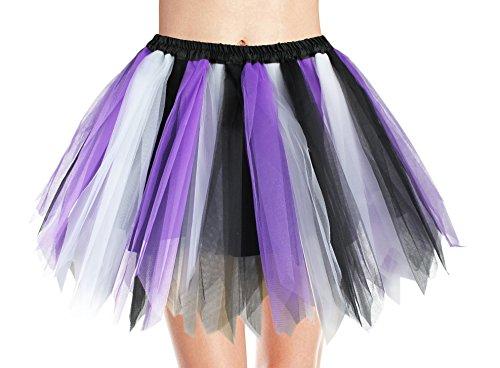 v28 Women's Teen's 1950s Vintage Tutu Tulle Petticoat Ballet Bubble Skirt