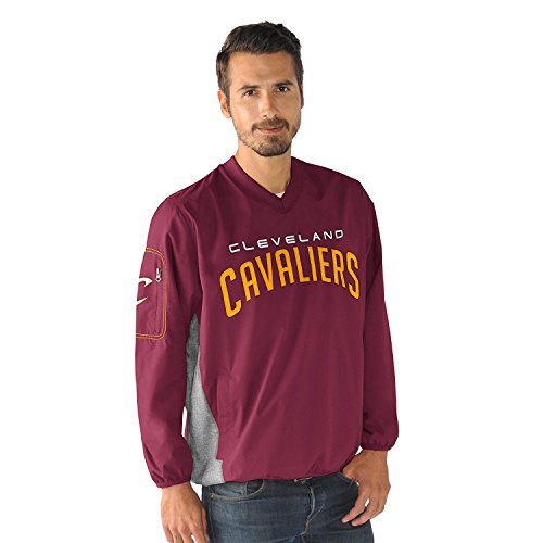 Cleveland Cavaliers NBA Men's G-III Sports by Carl Banks Gridiron V-Neck Pullover Jacket (Large)