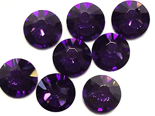Flat Back Crystal Purple Velvet - Flat back Crystal 2058 Swarovski Rhinestone No Hotfix Round 277 Purple Velvet SS20 5mm 10G 1440 pcs Wholesale (Purple)