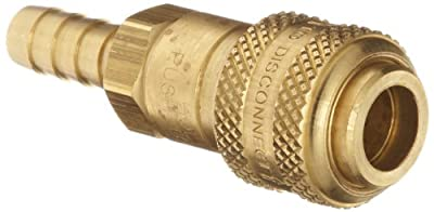 Dixon DCB Series Brass Air Chief Industrial Interchange Quick-Connect Air Hose Fitting, Coupling x Hose ID Barbed