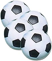Fat Cat Foosball/Soccer Game Table Soccer Balls: 36 mm Regulation Size Foosballs, Black/White, 4 Pack