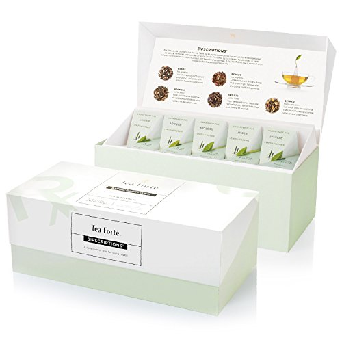Tea Forte Sipscriptions Presentation Box 20 Infusers 4 of each blend (Sipscriptions)
