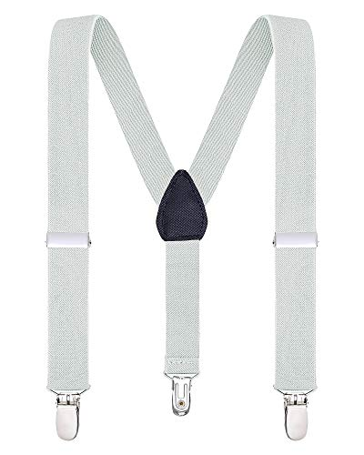 (Buyless Fashion Suspenders for Kids and Baby Adjustable Elastic Solid Color 1 inch -)
