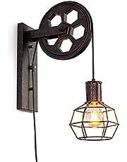 Fanmuran Lámpara de Pared Aplique E27 Lámpara de Pared Vintage Retro Iluminación de Pared Iluminación Creativa para Escalera Pasillo Cafe Bar Restaurante Hotel (No Incluye la Bombilla)