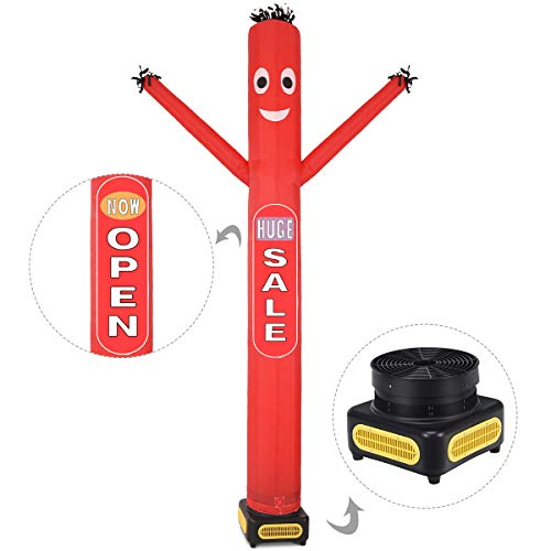 Tangkula 10 ft Inflatable Dancer with Blower Inflatable Puppet Tube Man for Open Sign Air Puppet Advertising Dancer with Removable