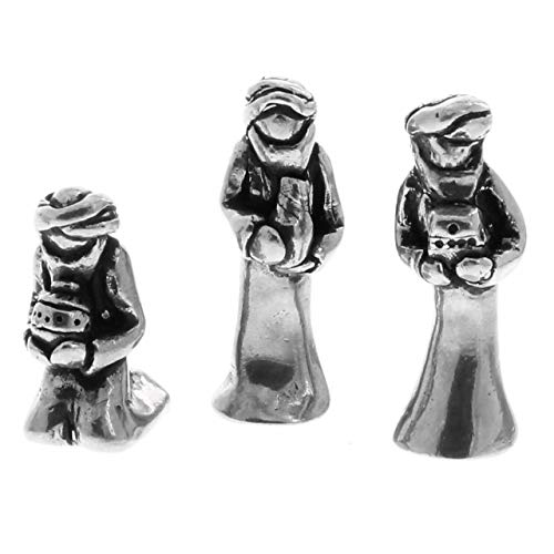 Wendell August Nativity Set - Mini Figurines Handmade in The USA Forge, Beautiful Metal Nativity Set (Wise Men)
