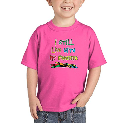 HAASE UNLIMITED I Still Live with My Parents - Crayons Infant/Toddler Cotton Jersey T-Shirt (Pink, 24 Months) ()