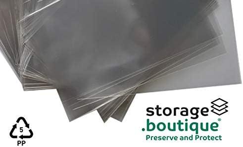Storage.boutique Lot de 200 Pochettes de Protection en soies Transparentes sans Acide 75 x 95 mm 3 Couches