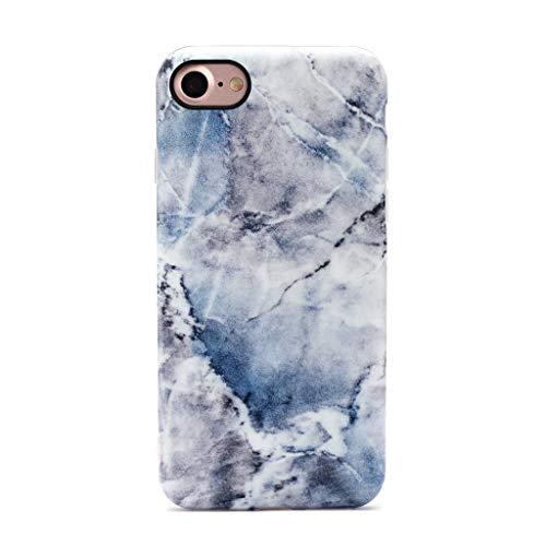 GOLINK iPhone 7 Case/iPhone 8 Case, Slim-Fit Anti-Scratch Shock Proof Anti-Finger Print Flexible TPU Gel Case for iPhone 7/iPhone 8 - Blue Ice Marble