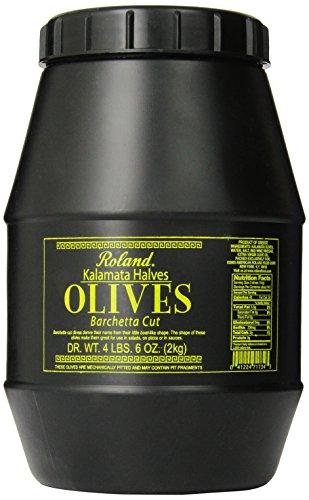 Roland Olives, Kalamata Halves, 70 Ounce