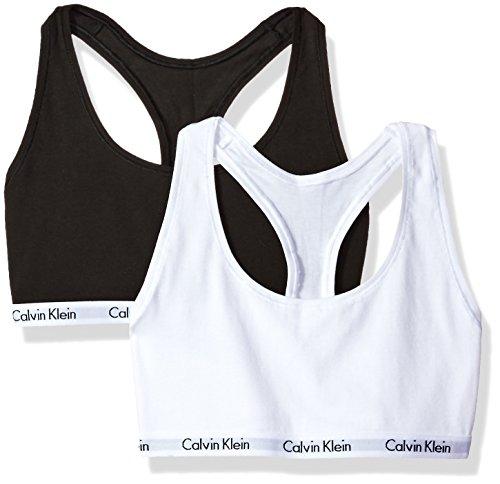 Calvin Klein Women's Carousel Bralette, Black/White, Medium by Calvin Klein