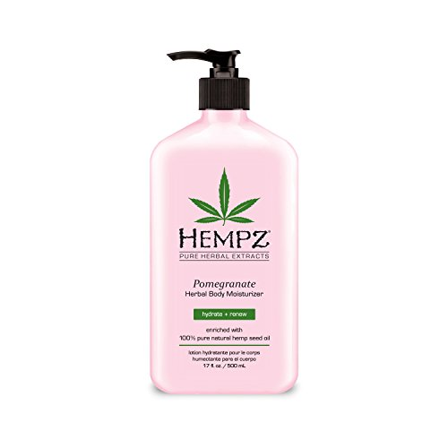 Hempz Herbal Body Moisturizer, Light Pink, Pomegranate, 17 Fluid Ounce Vital Antioxidant Moisturizer