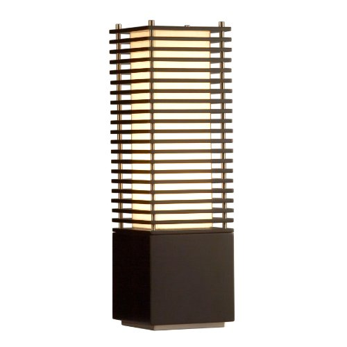 Accent Table Lamp Nova Lighting - Nova Lighting 10704 Kimura Accent Table Lamp, Dark Brown & Brushed Nickel with Tan Linen Shade