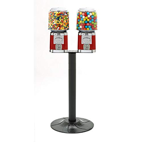 B001AVJQ80 Bulk Candy, Nut, Gumball Machine Double Head T Stand 41LR-6QibQL