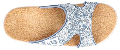 Spenco Womens Ocean Sandals Slide Blue Kholo PpxqzPn1
