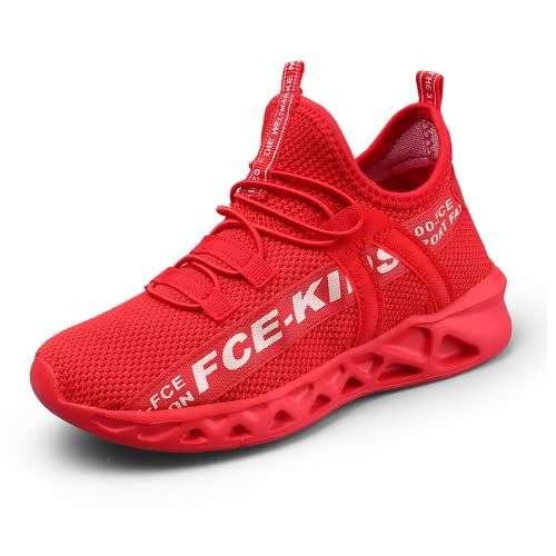 Sucutg Boys Sneakers Kids Shoes Athletic Running Shoes for Little Kids/Toddler Athletic for Little Kids/Big Kids Fitness & Cross-Training Red 8.5 US