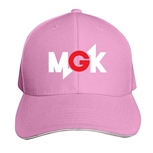 Hip-Hop Baseball Cap M-G-K Trucker Cap Dad Hat Soccer Hat Pink