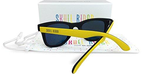 noir Skull Homme Lunettes jaune soleil Rider de 4w47zYq