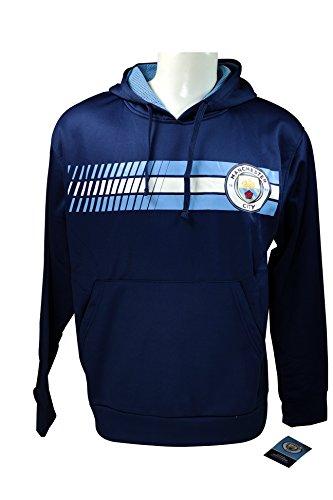 Soccer Ball Fleece Beanie - Manchester City F.C. Front Fleece Jacket Sweatshirt Official License Soccer Hoodie Small 019