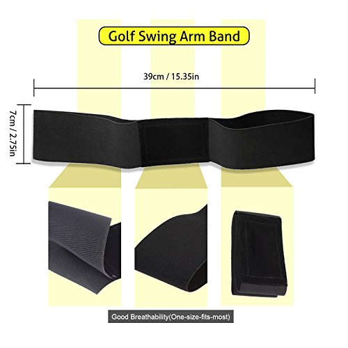 ETROL Golf Swing Training Aid Practicing Guide - Golf Swing Arm Band Training Aid - Gold Training Set by ETROL (Image #4)