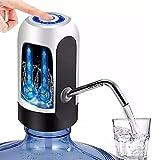 ARCHY Dispensador de Agua Automatico Electrico Garrafon Botella Recargable Agua Bomba de Agua Potable Eléctrica Inalámbrica Bombeo Rápido Botella de Galón Universal Interruptor de Dispensador de la Bomba de Agua NEGRO (Negro)… (Blanco)