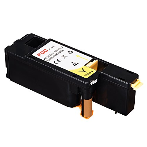 FDC Toner Compatible Dell E525W Printers Toner Cartridges 1 Pack Replacement for Yellow 593-BBJW / MWR7R / 3581G