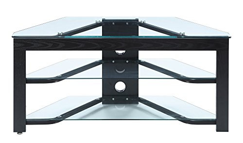 Convenience Concepts TV-01 Wood and Glass TV Stand for Flat Panel TV s Up to 46-Inch or 80-Pounds