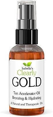 Clearly GOLD, el Mejor Aceite Acelerador de Bronceado Natural. Aceite Bronceador Hidratante para un Bronceado