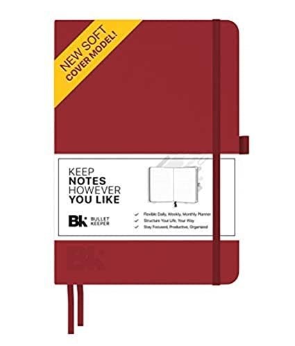 Bullet Keeper Undated Planner - Daily Weekly Monthly Planner. 2019 Agenda w Flexible Structure (5.8x8.3