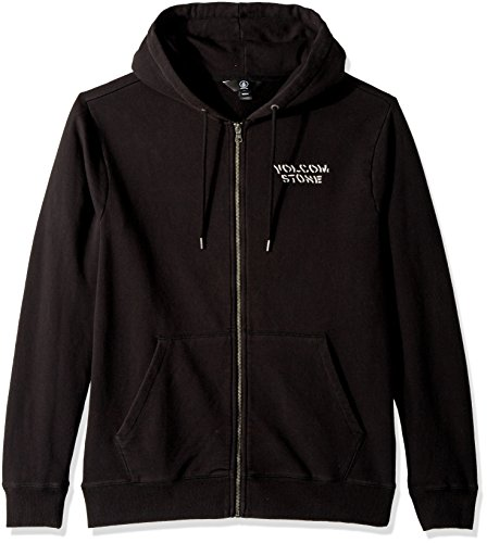 Volcom Men's Reload Zip up Fleece Hoodie, Washed Black, S Volcom Black Hoodie
