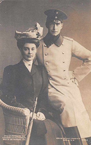 German Prince Wilhelm and Duchess Cecilie Royalty Real Photo Postcard J65285