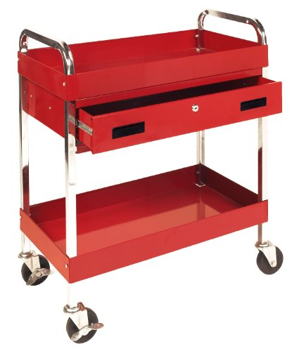- Performance Tool W54004 Two Shelf Utility Cart with Drawer