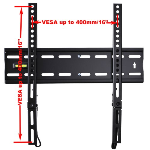 """VideoSecu Ultra Slim TV Wall Mount for Most 27""""-47"""" LCD LED Plasma TV, Some up to 55"""" Flat Panel Screen Display with VESA 100x100 200x100 200x200 300x200 400x300 400x400 1"""" Low Profile TV Bracket 1RX"""