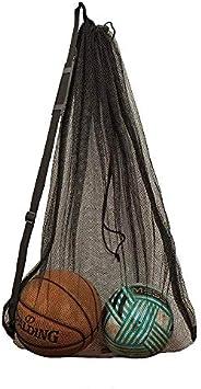 OrgaWise Mesh Ball Bag Large Drawstring Gym Sport Equipment Storage net Bag for Basketball, Soccer, Sports Bea