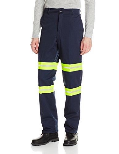 Red Kap Men's Pants, Enhanced Visibility Dark Navy, 42W x 32L