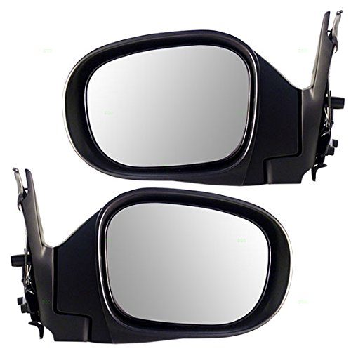 Pair Set Power Side View Mirrors Heated Replacement for Nissan Pathfinder 963024W265 963014W265