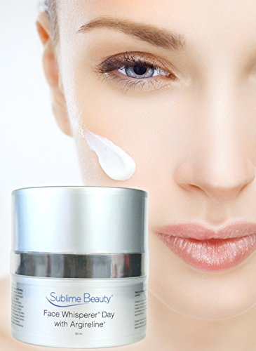 Face Whisperer Day Cream with Argireline, 1.7 oz. Anti Aging Moisturizer from Sublime Beauty to Relax Wrinkles & Hydrate.