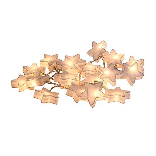 CHAINUPON Star Moon Fancy Lantern String Fairy Night Lights Kid Bedroom Home Children Decor (White Star) ()
