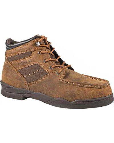 Roper Men's Moc Toe Horseshoe Boot Tan 11.5 D US