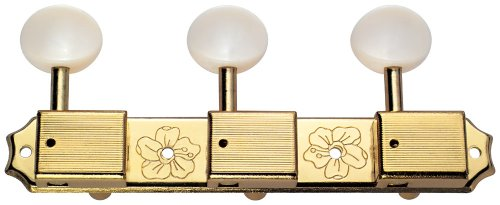 Golden Gate F-2854 Vintage Classical Guitar Tuners - 2 Planks (3+3) - Gold by Golden Gate