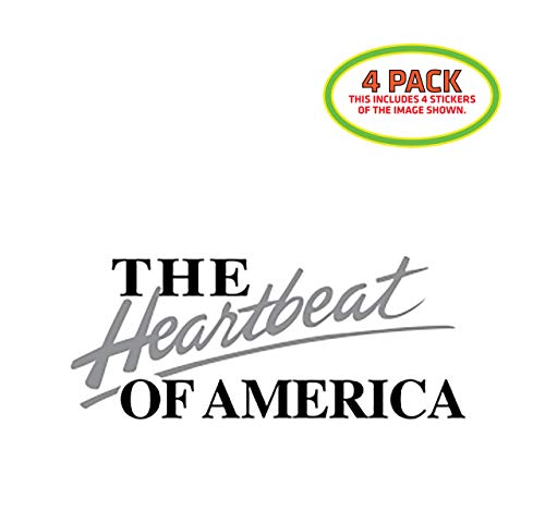HTM The Heartbeat of America Chevrolet Sticker Vinyl Decal 4 Pack