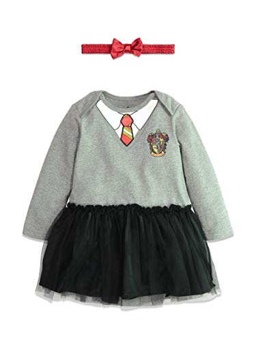 Harry Potter Hermione Baby Girls Long Sleeve Costume Bodysuit Dress 24 Months ()