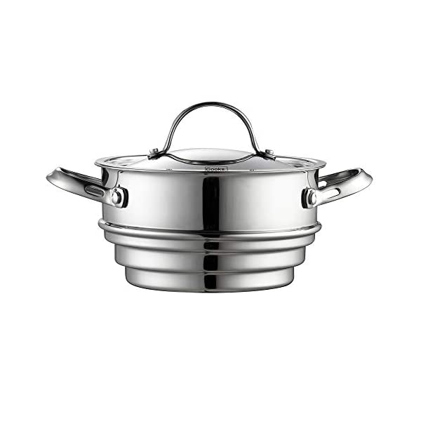 Cooks Standard Classic Stainless Steel Cookware Set, 10- Pieces, Silver 5