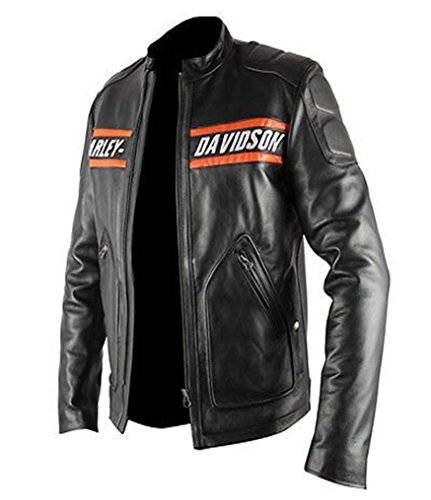 WWE HD Goldberg Harley Motorcycle Black Leather Biker Jacket (2XS, Faux Leather) by The Jacket Makers