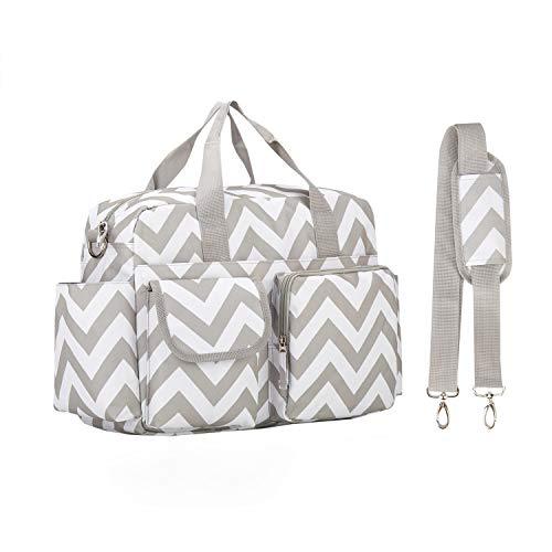 incarpo Baby Nappy Bags Diaper Bag Mother Waterproof Shoulder Bag Maternity Mummy Handbag Baby Stroller Bag Stripe (Carters Baby Bags For Mom)