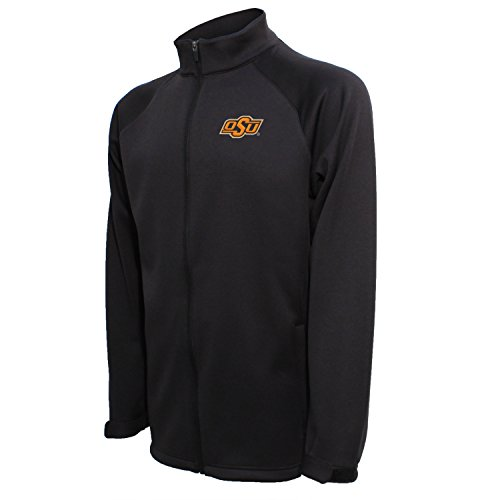 Crable NCAA Oklahoma State Cowboys Men's Full Zip Bonded Jacket, Black, XX-Large