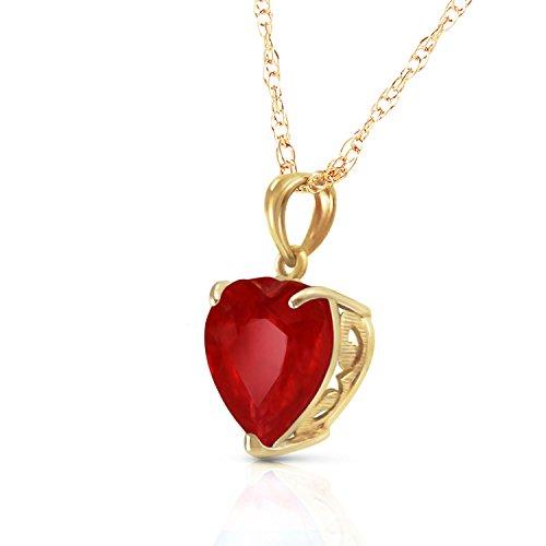 Buy ruby heart pendant white gold