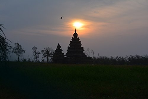 - Home Comforts Peel-n-Stick Poster of Mahabalipuram Sunrise Chennai Old Shore Temple Poster 24x16 Adhesive Sticker Poster Print