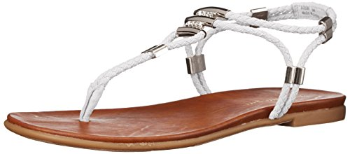 Madden Girl Women Flexii Gladiator Sandal White Fabric